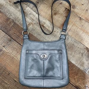 Coach Silver Pebble Leather Penelope Crossbody